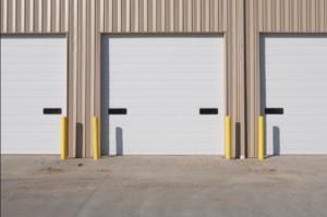 new commercial garage doors on a warehouse in little rock