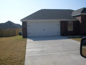 a brand new garage door installation in little rock, ar