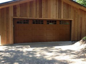 new wooden garage door in little rock