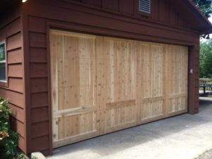 picture of a garage door installation job in central arkansas